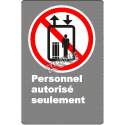 """French CDN """"Authorized Personnel Only"""" sign in various sizes, shapes, materials & languages + optional features"""