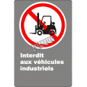 """French CDN """"No Industrial Vehicles"""" sign in various sizes, shapes, materials & languages + optional features"""