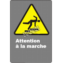 Affiche CSA «Attention à la marche» de langue française: langues, formats et matériaux divers & options