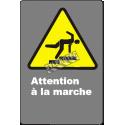 Affiche CDN «Attention à la marche» de langue française: langues, formats et matériaux divers & options
