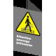 Affiche CSA «Attention passage piétonnier» en français: langues, formats et matériaux divers & options