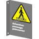 """French CSA """"Pedestrian Crossing"""" sign in various sizes, shapes, materials & languages + optional features"""
