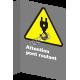Affiche CSA «Attention pont roulant» de langue française: langues, formats & matériaux divers + options