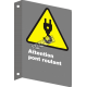 """French CSA """"Caution Look Out For Crane"""" sign in various sizes, shapes, materials & languages + optional features"""