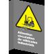 Affiche CSA «Attention circulation de véhicules industriels» en française: langues, formats & matériaux divers + options