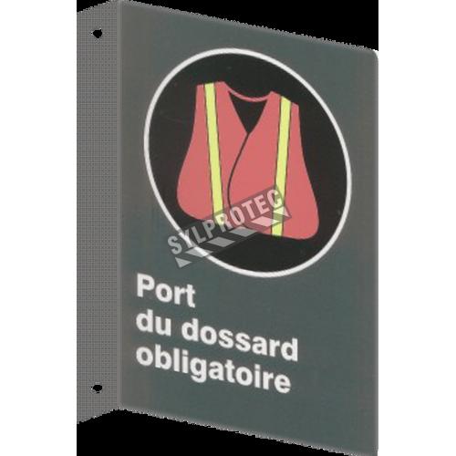 Affiche CSA «Port du dossard obligatoire» de langue française: langues, formats & matériaux divers + options