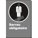 Affiche CDN « Sarrau obligatoire» de langue française: langues, formats & matériaux divers