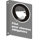 "French CSA ""Hairnet Mandatory"" sign in various sizes, shapes, materials & languages + optional features"
