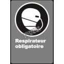 Affiche CDN «Respirateur obligatoire» de langue française: langues, formats & matériaux divers + options