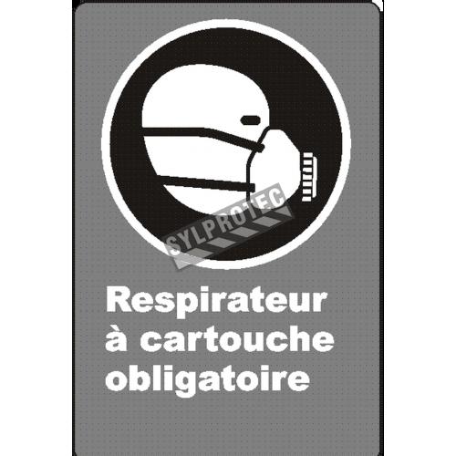 Affiche CSA «Respirateur à cartouche obligatoire» en français: langues, formats & matériaux divers + options