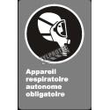 Affiche CDN «Appareil respiratoire autonome obligatoire» en français: langues, formats & matériaux divers + options