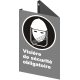 Affiche CSA «Visière de sécurité obligatoire» de langue française: langues, formats & matériaux divers + options