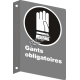 """French CSA """"Gloves Mandatory"""" sign in various sizes, shapes, materials & languages + optional features"""