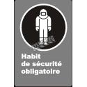 Affiche CDN «Habit de sécurité obligatoire» de langue française: langues, formats & matériaux divers + options