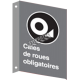 """French CSA """"Choked Wheels Mandatory"""" sign in various sizes, shapes, materials & languages + optional features"""