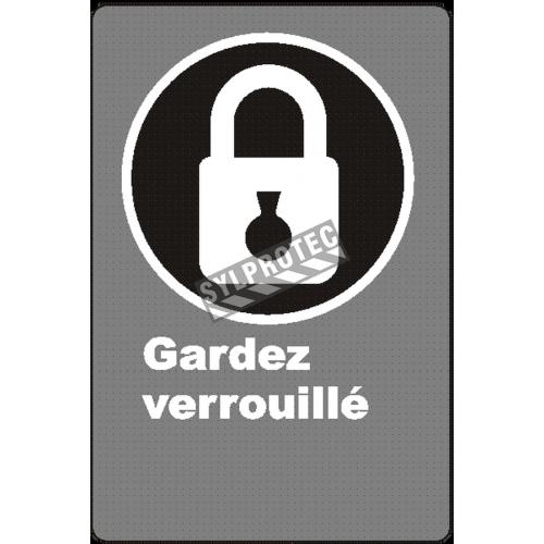 Affiche CSA «Gardez verrouillé» de langue française : formats variés, matériaux divers, d'autres langues & options