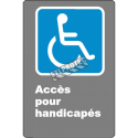 """French CDN """"Acces for the Disabled"""" sign in various sizes, shapes, materials & languages + optional features"""