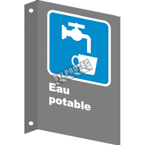 "French CSA ""Drinking Water"" sign in various sizes, shapes, materials & languages + optional features"