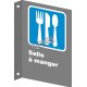 """French CSA """"Cafeteria"""" sign in various sizes, shapes, materials & languages + optional features"""