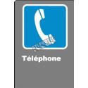 Affiche CDN «?Téléphone» de langue française: formats variés, matériaux divers, d'autres langues & options