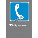 """French CDN """"Telephone"""" sign in various sizes, shapes, materials & languages + optional features"""