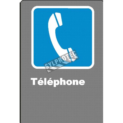 Affiche CSA «Téléphone» de langue française: formats variés, matériaux divers, d'autres langues & options