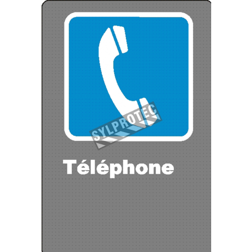 "French CSA ""Telephone"" sign in various sizes, shapes, materials & languages + optional features"