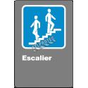 Affiche CDN«?Escalier» de langue française: formats variés, matériaux divers, d'autres langues & options