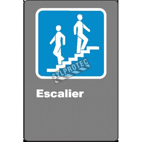Affiche CSA «Escalier» de langue française: formats variés, matériaux divers, d'autres langues & options