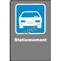 Affiche CSA «Stationnement» de langue française: formats variés, matériaux divers, d'autres langues & options