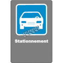 """French CDN """"Parking"""" sign in various sizes, shapes, materials & languages + optional features"""