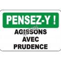 Affiche OSHA «Pensez-y! Agissons avec prudence» en français: langues, options, formats & matériaux variés
