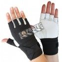 Cowhide & nylon Impacto AirGloves half finger workglove with wrist support for abrasion & impact protection. Sold individually.