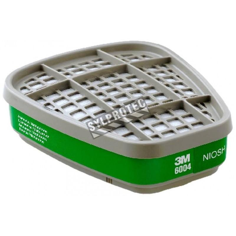 Cartouche contre l'ammoniac & la méthylamine de 3M, compatible avec masques de protection respiratoire séries 6000 & 7500.