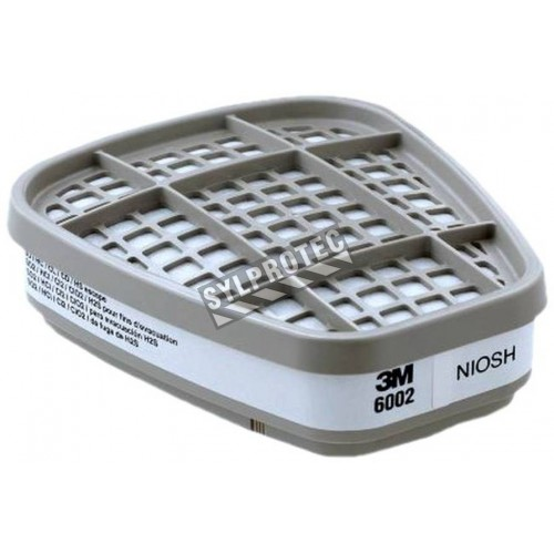 3M NIOSH approved acid gases cartridge for 3M half & full facepiece respirators series 6000, 7500 & FF-400.