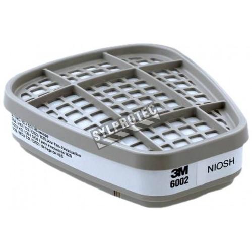 Cartouche contre les gaz acides de 3M, compatible avec les masques de protection respiratoire des séries 6000 & 7500.