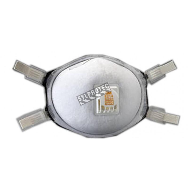 Masque de protection respiratoire ignifuge avec soupape Cool FlowTM de 3M, N95. Résistant aux particules huileuses.
