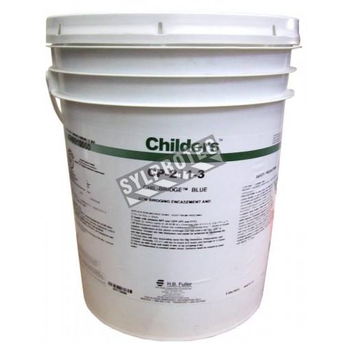 Agent d'encapsulation bleu Childers CP211, 20 L (5 gallons US). Couvre 200 pieds carrés, pour désamiantage.