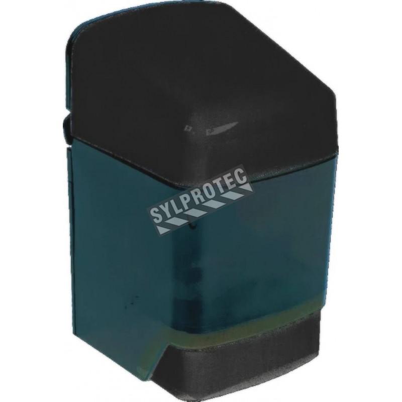 Distributeur à savon 40 oz bouton pression. Peut être vissé au mur ou collé , est facile à remplir, à utiliser, à nettoyer.