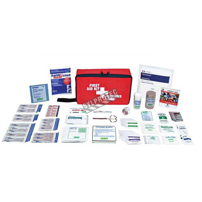 Travel first aid kit.
