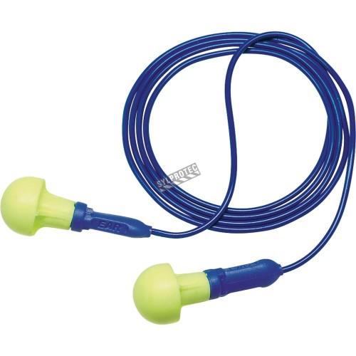 Bouchon d'oreille antibruit avec cordon 318-1001 Push-Ins, bt/100, 28 dB.