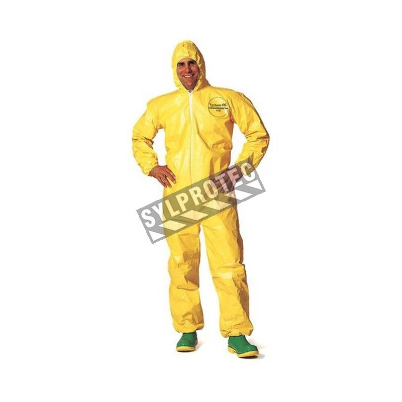 TYCHEM 2000 disposable yellow coverall with hood sold individually