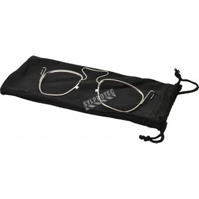 Support d'acier inoxydable Genesis XC pour port de lentille d'ordonnance sur lunette de sécurité d'Uvex. Lentille non-incluse.