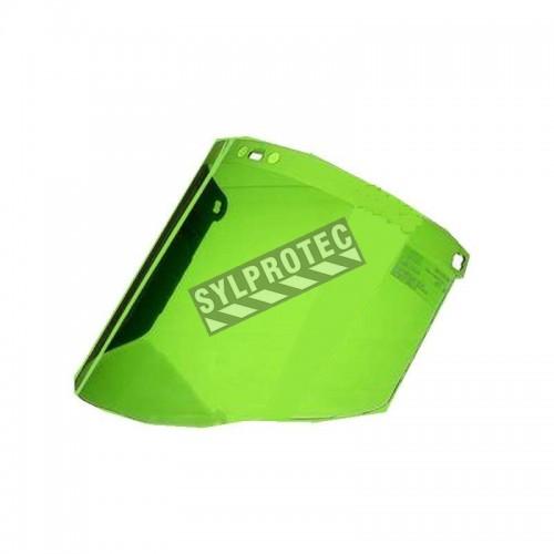 Visière pour soudeur en polycarbonate vert (IR 3.0) pour protection faciale sur mesure. Compatible avec porte-visières de 3M.