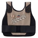 Vest change of state, for environments with intense heat.