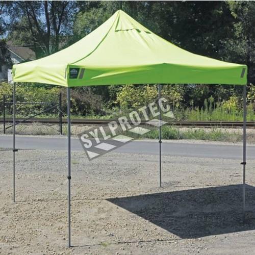 Tente de qualité industrielle pour protéger du soleil  et de la pluie. Dimension: 3 m X 3 m (10 pi X 10 pi).