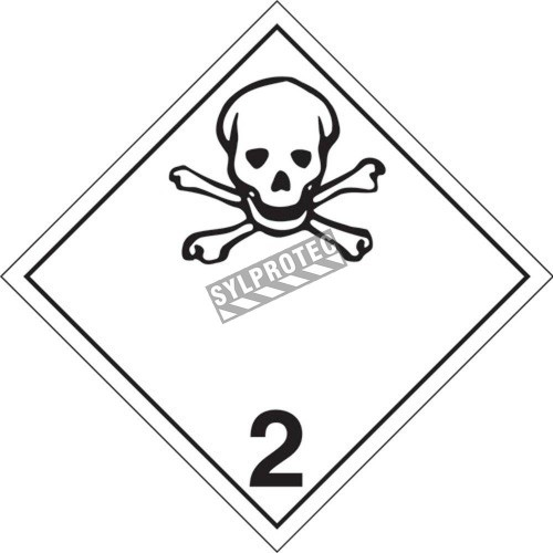 Poison gas, class 2, placard, 10-3/4 in X 10-3/4 in. Use in the transportation of hazardous materials