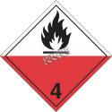 Matières sujettes à inflammation spontanée, classe 4, placard, 10 3/4 po x 10 3/4 po.