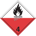 Spontaneously combustible materials, class 4, placard, 10-3/4 in X 10-3/4 in.