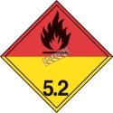 Peroxyde organique, classe 5.2 placard, 10 3/4 po x 10 3/4 po.
